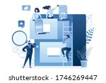 quick files search. document... | Shutterstock .eps vector #1746269447