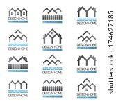 home design icons set  ... | Shutterstock .eps vector #174627185