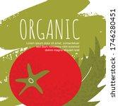 oragnic tomato vector poster.... | Shutterstock .eps vector #1746280451
