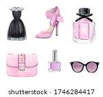 Watercolor Pink Fashion...