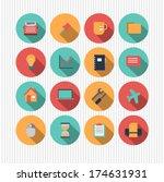 vector set of universal icons | Shutterstock .eps vector #174631931