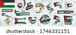 vector set of the national flag ... | Shutterstock .eps vector #1746331151