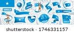 vector set of the national flag ... | Shutterstock .eps vector #1746331157
