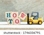 Toy Forklift Hold Letter Block...