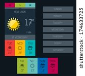 weather widget in flat design...