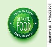 100  organic natural food label ...   Shutterstock .eps vector #1746339104
