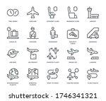 Air Travel Icons   Monoline...