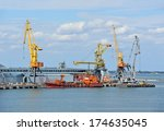bunker ship  fuel replenishment ... | Shutterstock . vector #174635045