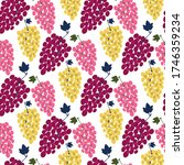 grape bunch seamless pattern.... | Shutterstock .eps vector #1746359234