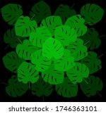 tropical leave modern flat... | Shutterstock .eps vector #1746363101