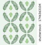 tropical leave modern flat... | Shutterstock .eps vector #1746363104