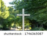Metal Cross At The Entrance Of...