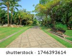 pathway in the park on a sunny... | Shutterstock . vector #1746393614