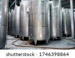 Rows Of Metal Wine Storage...