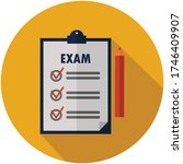 exam   test  list and education ... | Shutterstock .eps vector #1746409907
