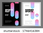 poster layout design with... | Shutterstock .eps vector #1746416384