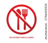 no outside food allowed sign... | Shutterstock .eps vector #1746453524
