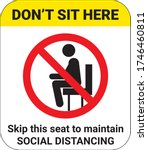 don t sit here sign. skip this...   Shutterstock .eps vector #1746460811