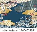 japanese pattern background... | Shutterstock .eps vector #1746469124