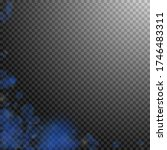 dark blue flower petals falling ...   Shutterstock .eps vector #1746483311