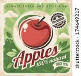 vintage apple poster | Shutterstock .eps vector #174649217