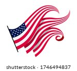 waving flags of the united... | Shutterstock .eps vector #1746494837