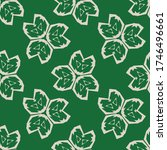seamless pattern with a... | Shutterstock .eps vector #1746496661