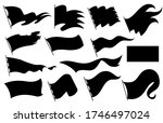 black flags silhouettes icons... | Shutterstock .eps vector #1746497024