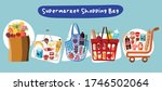 supermarket cart food and drink ... | Shutterstock .eps vector #1746502064