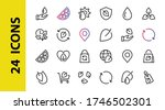ecology icon set  vector lines  ... | Shutterstock .eps vector #1746502301