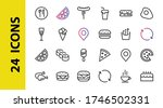 a simple set of fast food icons ... | Shutterstock .eps vector #1746502331