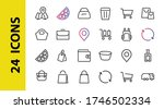 a simple set of bags  shopping... | Shutterstock .eps vector #1746502334