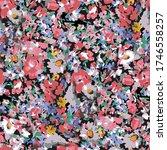 cute pattern in a small flower. ...   Shutterstock .eps vector #1746558257