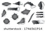 collection of papers hole with... | Shutterstock .eps vector #1746561914
