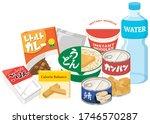 emergency food set for... | Shutterstock .eps vector #1746570287