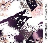 splatter brush stroke surface.... | Shutterstock .eps vector #1746601751