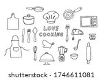 doodle cooking icons set.... | Shutterstock .eps vector #1746611081