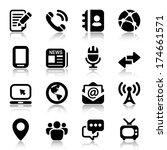 media   communication icons set....   Shutterstock .eps vector #174661571