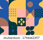 geometric artwork design with... | Shutterstock .eps vector #1746662357