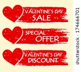 valentines day sale and... | Shutterstock . vector #174666701