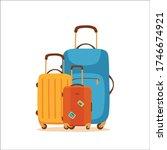 travel suitcase vector cartoon... | Shutterstock .eps vector #1746674921