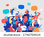 people and digital...   Shutterstock .eps vector #1746704414