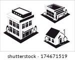 vector industrial buildings and ... | Shutterstock .eps vector #174671519