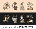 antique shop labels or badges.... | Shutterstock .eps vector #1746729371