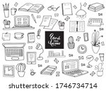 remote work.  a set of items... | Shutterstock .eps vector #1746734714