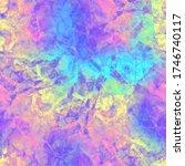 vivid vibrant blob shapes... | Shutterstock . vector #1746740117