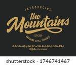 """the mountains"" original brush...   Shutterstock .eps vector #1746741467"