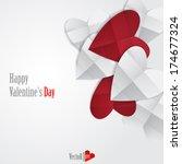 happy valentines day.  vector...   Shutterstock .eps vector #174677324