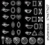 set of shapes of diamond | Shutterstock .eps vector #174677627