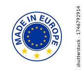 made in europe. round europe...   Shutterstock .eps vector #1746792914